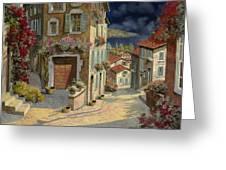 Di Notte Al Mare Greeting Card by Guido Borelli