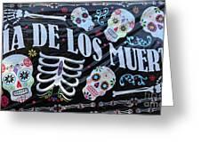 Dia De Los Muertos Banner  Greeting Card
