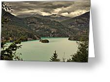 Diablo Lake - Le Grand Seigneur Of North Cascades National Park Wa Usa Greeting Card
