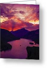 Diablo Lake, United States Greeting Card