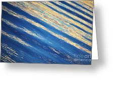 Diagonal Waters Greeting Card