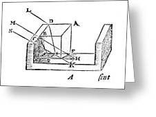 Diagram Showing Refraction, Kepler, 1611 Greeting Card