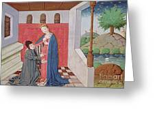 Dialogue Between Boethius And Philosophy Greeting Card
