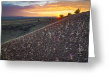Diamond Craters Sunset Greeting Card