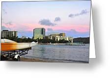 Diamond Head From Waikiki Greeting Card