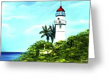 Diamond Head Lighthouse #10 Greeting Card