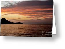 Diamond Head Sunrise Greeting Card