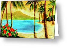 Diamond Head Waikiki Beach #127 Greeting Card