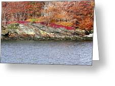 Diamond Island-mineral Deposits In Granite Greeting Card