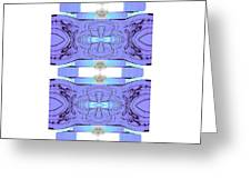 Diamonds Lilac Greeting Card