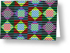 Diamond Quilt 1 Greeting Card