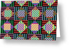 Diamond Quilt 2 Greeting Card