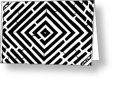 Diamond Shaped Optical Illusion Maze Greeting Card