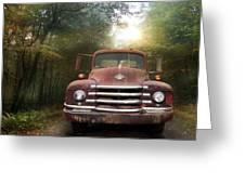 Diamond T Truck Greeting Card