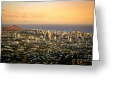 Diamondhead -- Jewel Of Oahu Greeting Card