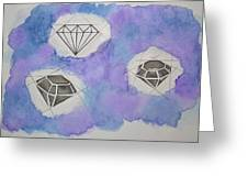 Diamonds In The Sky  Greeting Card