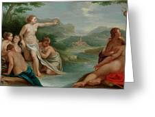 Diana And Actaeon Greeting Card