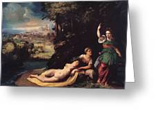 Diana And Calisto 1528 Greeting Card