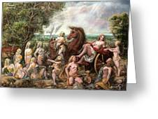 Diana And Entourage Greeting Card