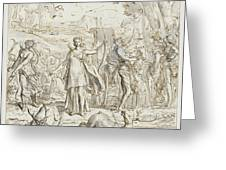 Diana And Her Nymphs Hunting Greeting Card