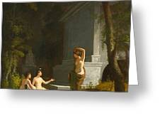 Diana At The Fountain Greeting Card