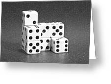 Dice Cubes I Greeting Card