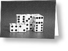 Dice Cubes II Greeting Card