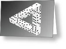 Dice Illusion Greeting Card