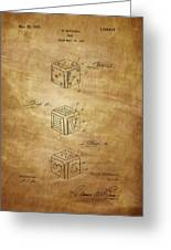 Dice Patent From 1923 Greeting Card