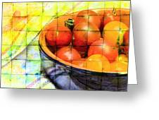 Diced Tomatoes Greeting Card
