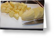 Dicing Potatoes I Greeting Card
