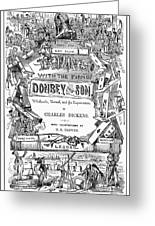 Dickens: Dombey And Son Greeting Card
