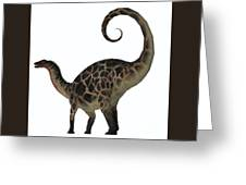Dicraeosaurus Dinosaur Tail Greeting Card