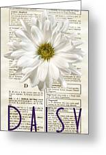Dictionary Daisy Greeting Card