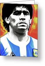 Diego Maradona By Nixo Greeting Card