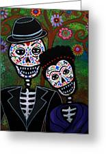 Diego Rivera And Frida Kahlo Greeting Card by Pristine Cartera Turkus