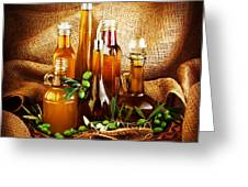 Different Salad Dressings Greeting Card