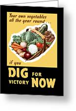 Dig For Victory Now Greeting Card
