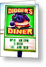 Digger's Diner Greeting Card