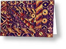 Digital Abstract 1 Greeting Card