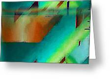 Digital Abstract 6 Greeting Card