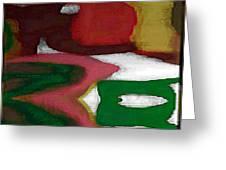 Digital Abstract 7 Greeting Card