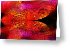 Digital Abstract 8 Greeting Card