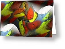 Digital Abstract World Greeting Card