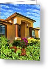 Digital Art Home Greeting Card