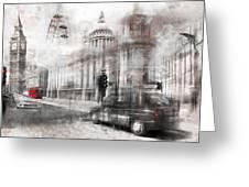 Digital-art London Composing Greeting Card
