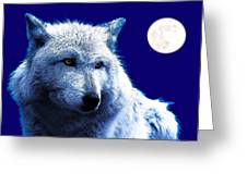 Digital Art Wolf Poster Greeting Card