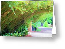 Digital Bamboo Rip Van Winkle Gardens  Greeting Card