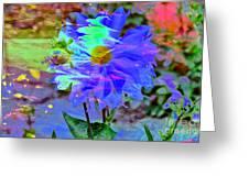 Digital Brush Abstract Greeting Card