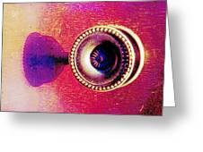 Digital Cabinet Handle Greeting Card